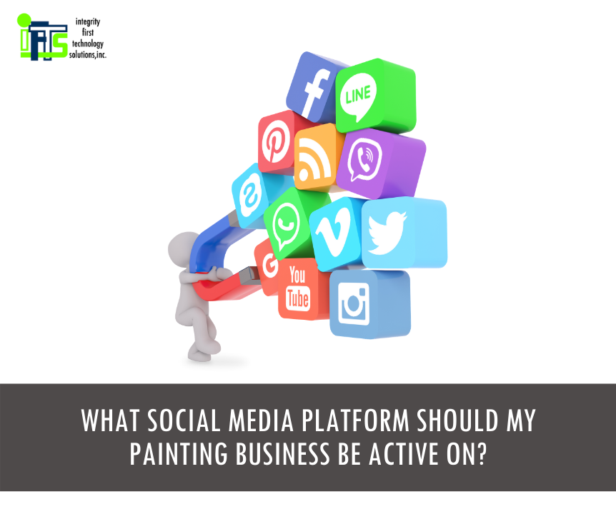 social media platforms for painting businesses